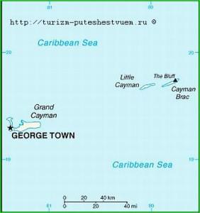 cayman islands - map photo
